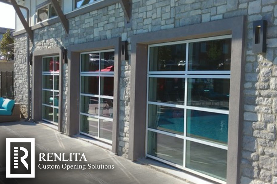 Renlita offers Custom Overhead Doors that don't encroach on the interior space! Custom Cladding and Glazing options can make your opening a focal point of design, or even camouflaged right into the wall. Applications include: exterior, interior, operable walls, windows, and counter shutters.